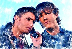 photoViva app draw picture of 2 men