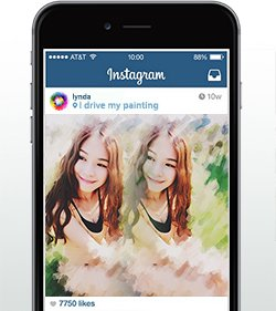 photoViva draw on picture in Instagram of a woman